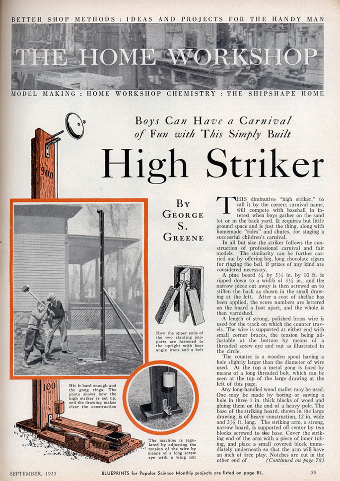 High striker - Popular Science - Septembre 1933